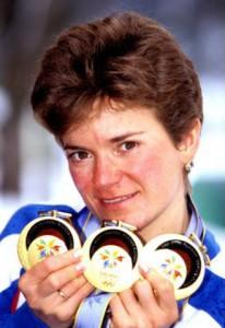 Larisa Łazutnia - ztrzema złotymi medalami Nagano 1998