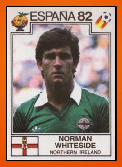 Norman WHITESIDE - Panini Irlande Du Nord 1982