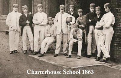 Historia piłkarskiego stroju: Gracze Charterhouse School źródło: http://www.thecharterhouse.org