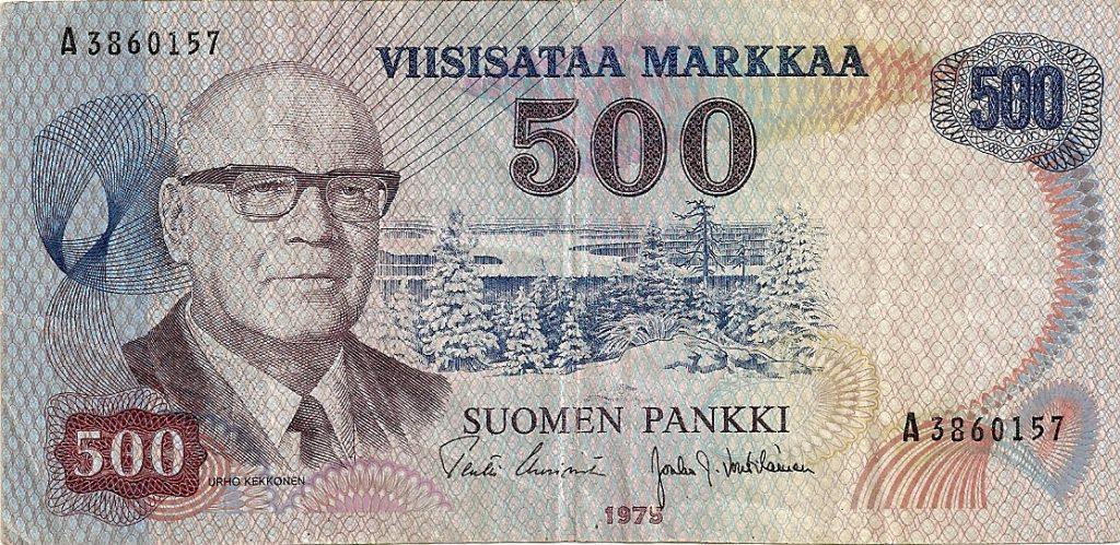 500 marek fińskich zwizerunkiem Kekkonena