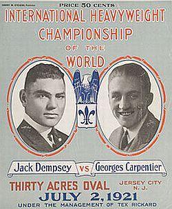 Jack Dempsey iGeorges Carpentier poster źródło: https://i.pinimg.com/