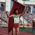 Nawal El Moutawakel w Los Angeles źródło: olympic.org