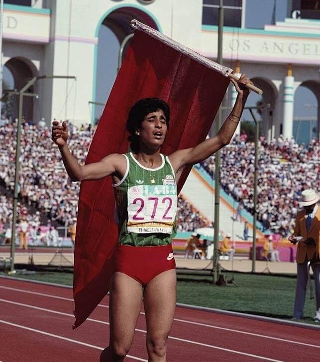 Nawal El Moutawakel wLos Angeles źródło: olympic.org