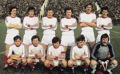 Widzew Łódź w1983 roku źródło: https://www.widzewtomy.net/