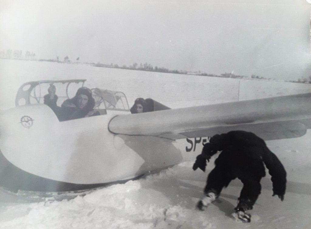 Lotnisko wRadawcu zimą