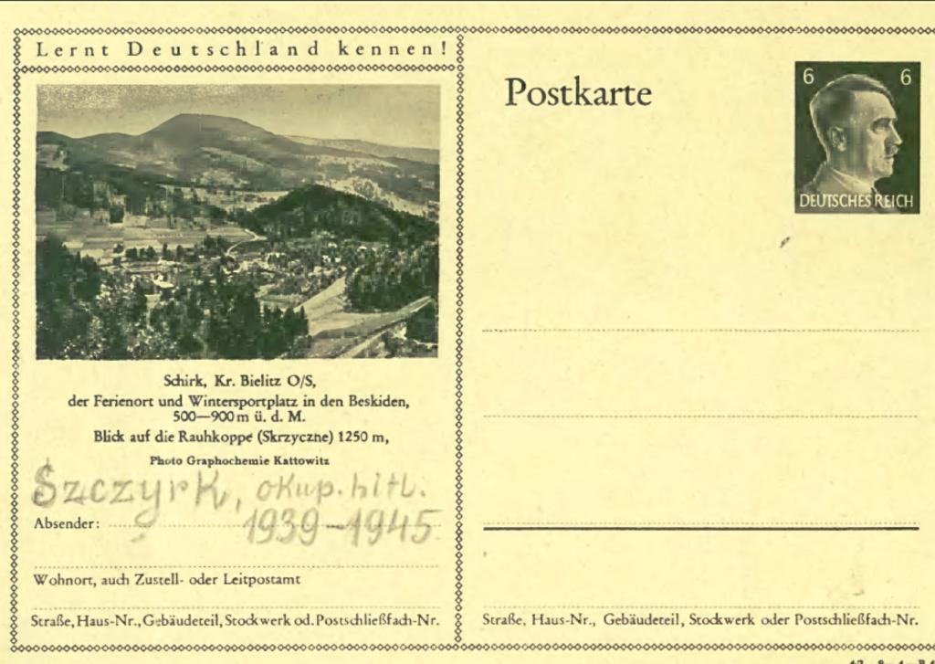 Niemiecka pocztówka zeSzczyrku