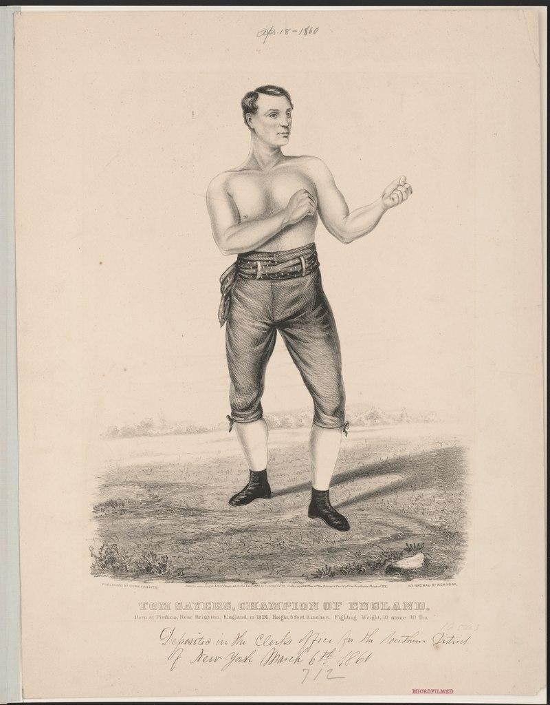 Tom Sayers, mistrz Anglii 1857-1860. źródło: wikipedia.org