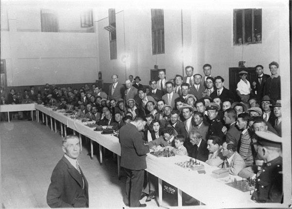 Akiba Rubinstein wTel Avivie, rok 1931.